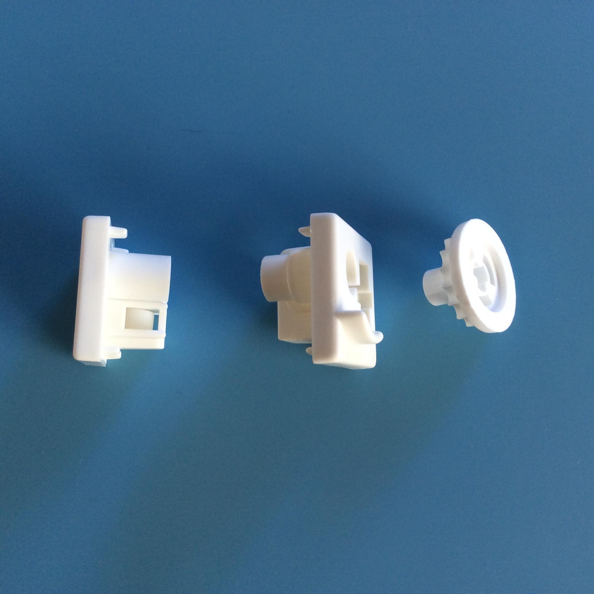 Vertical Blind White Headrail Control Ends